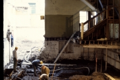Archaeology on Parliament Street before construction, 1993.