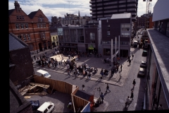 Temple Bar Square a year later.
